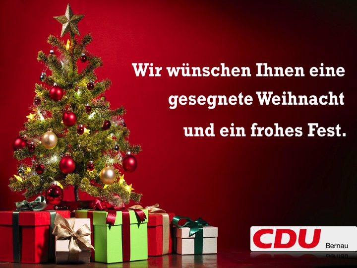 Frohe Weihnachten Besinnliche Feiertage.Cdu Bernau Bei Berlin Wir Wünschen Ihnen Eine Gesegnete Weihnacht